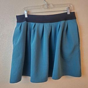 Lauren Conrad Teal Ruffle Above the Knee Skirt
